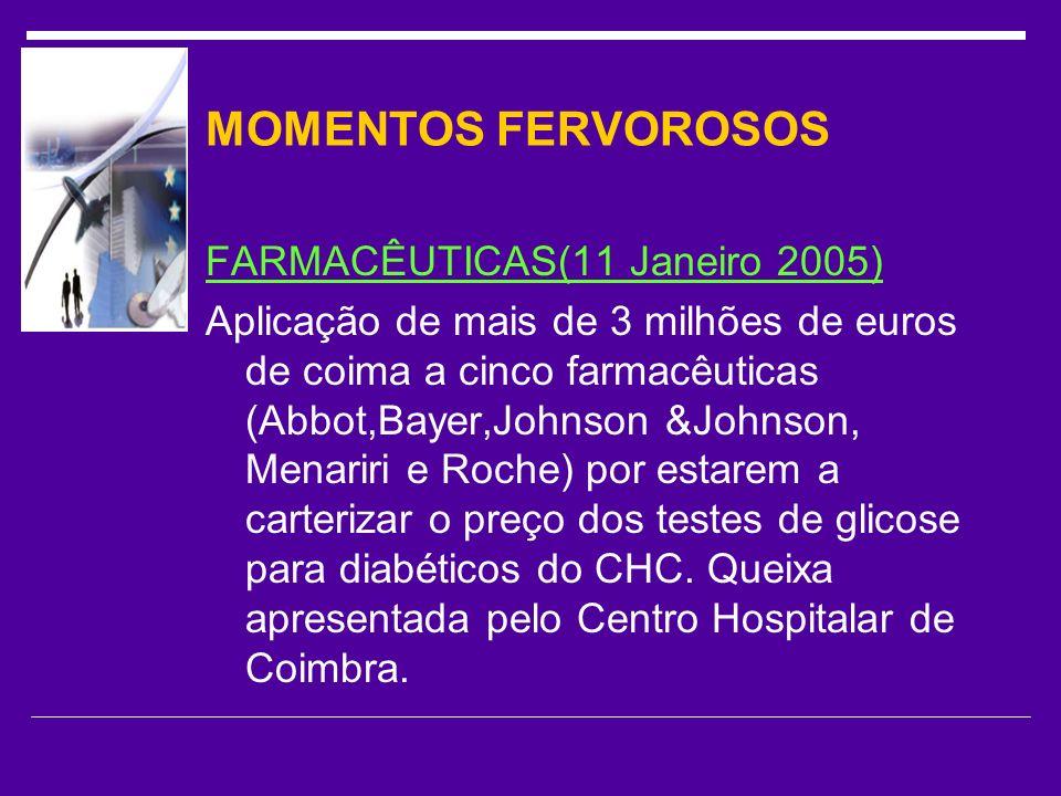 MOMENTOS FERVOROSOS FARMACÊUTICAS(11 Janeiro 2005)