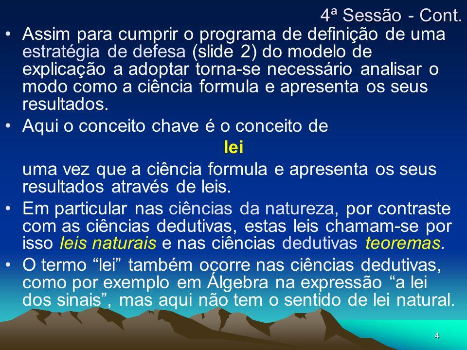 4ª Sessão - Cont.