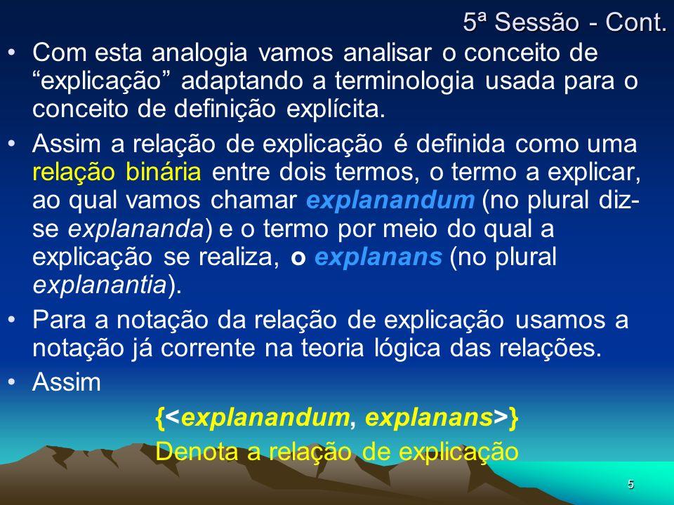 {<explanandum, explanans>}