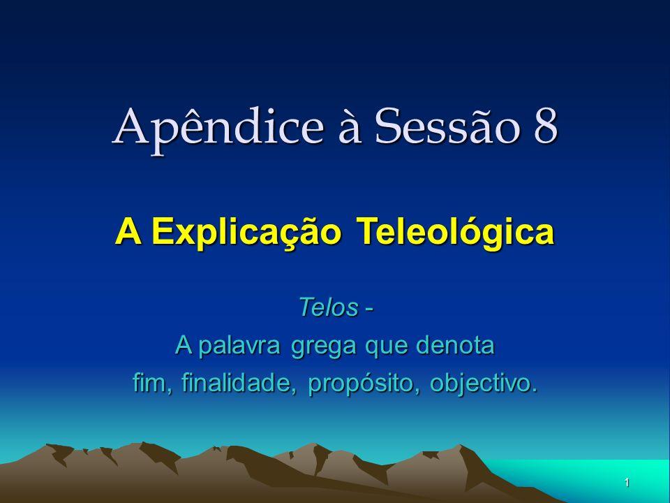 A Explicação Teleológica