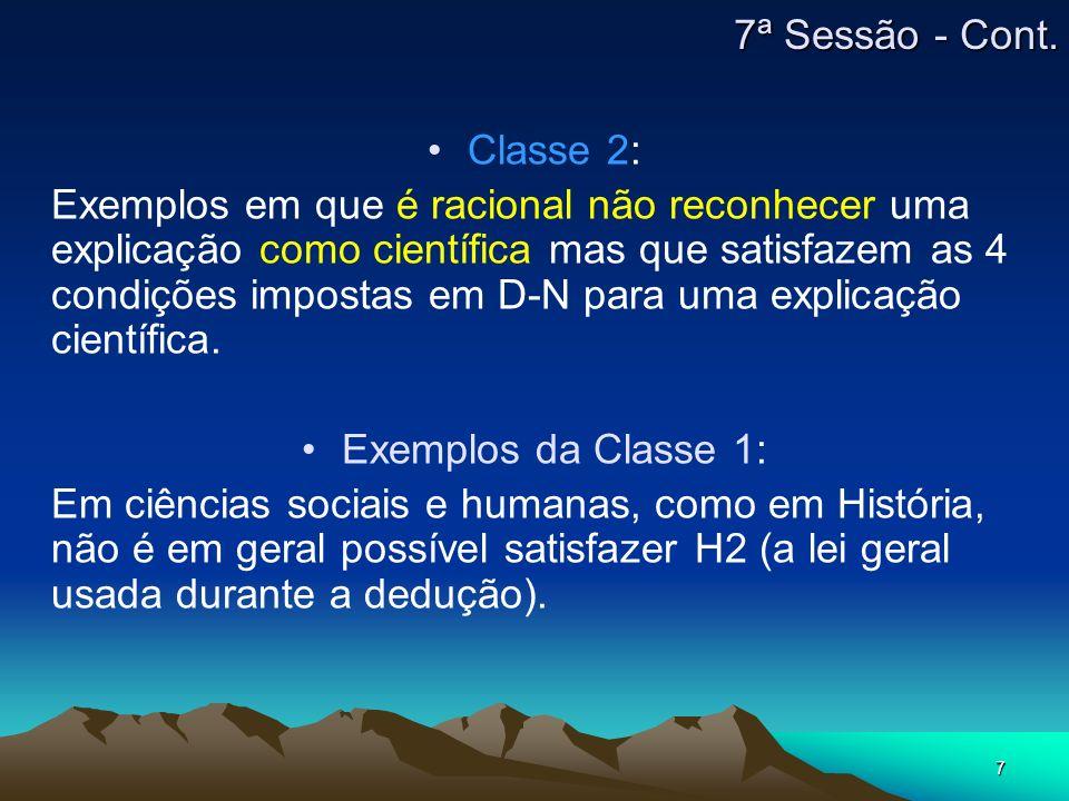 7ª Sessão - Cont. Classe 2: