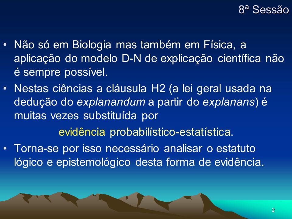 evidência probabilístico-estatística.