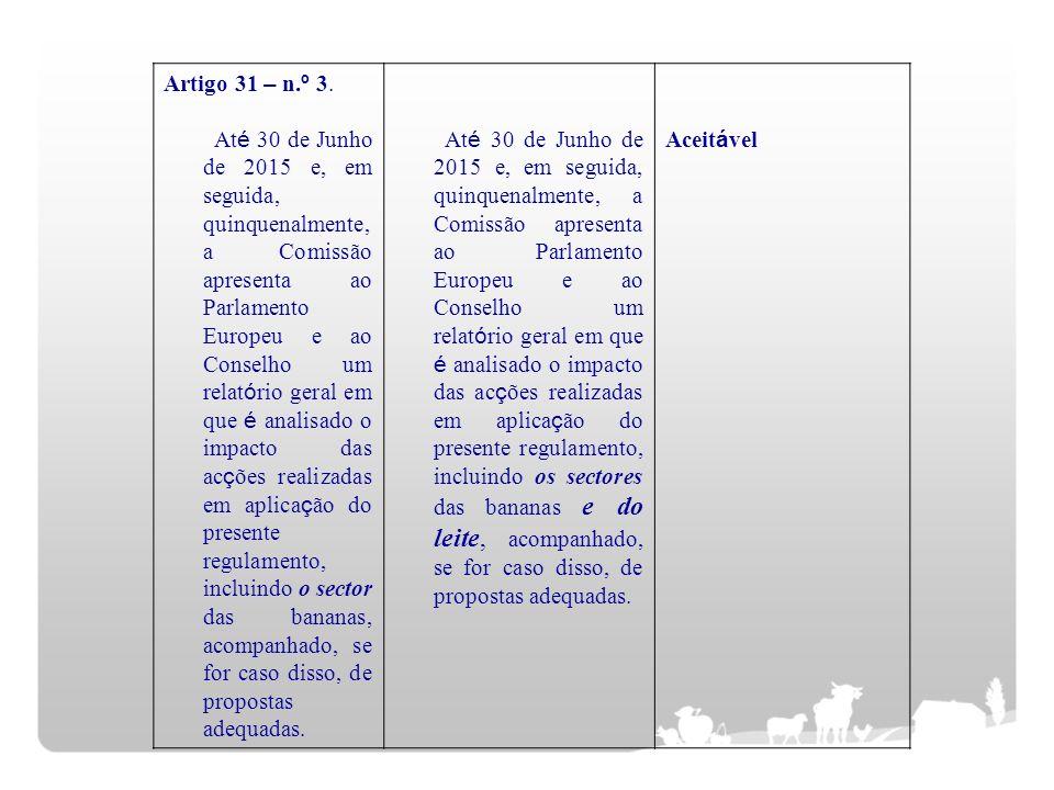 Artigo 31 – n.º 3.