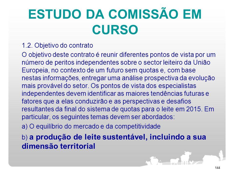 ESTUDO DA COMISSÃO EM CURSO