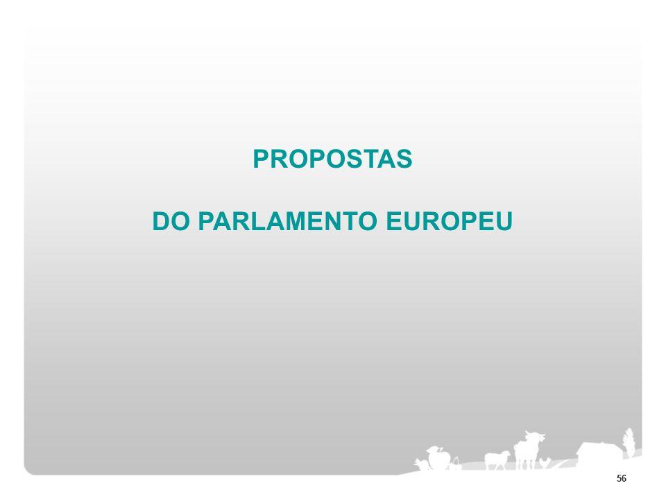 PROPOSTAS DO PARLAMENTO EUROPEU