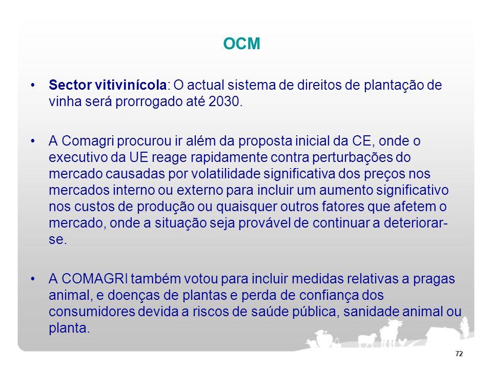 OCMSector vitivinícola: O actual sistema de direitos de plantação de vinha será prorrogado até 2030.