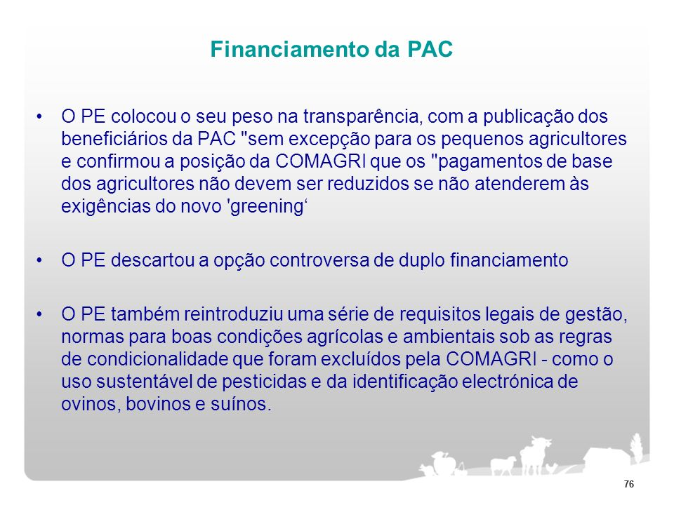 Financiamento da PAC