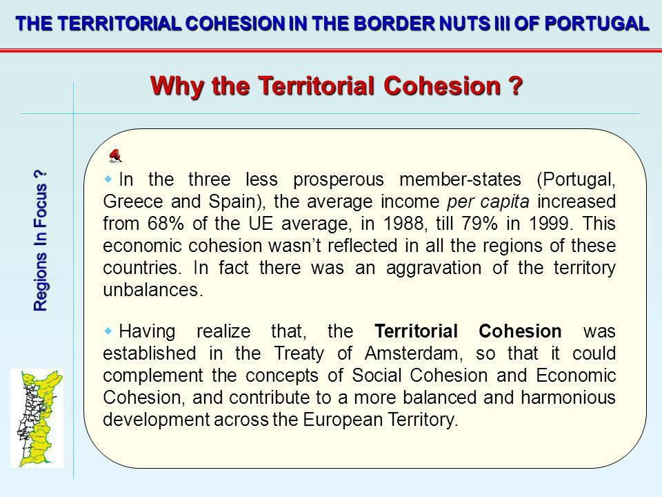 Why the Territorial Cohesion