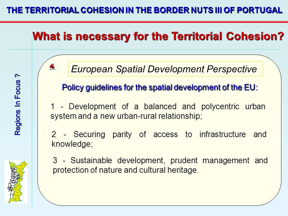 Policy guidelines for the spatial development of the EU: