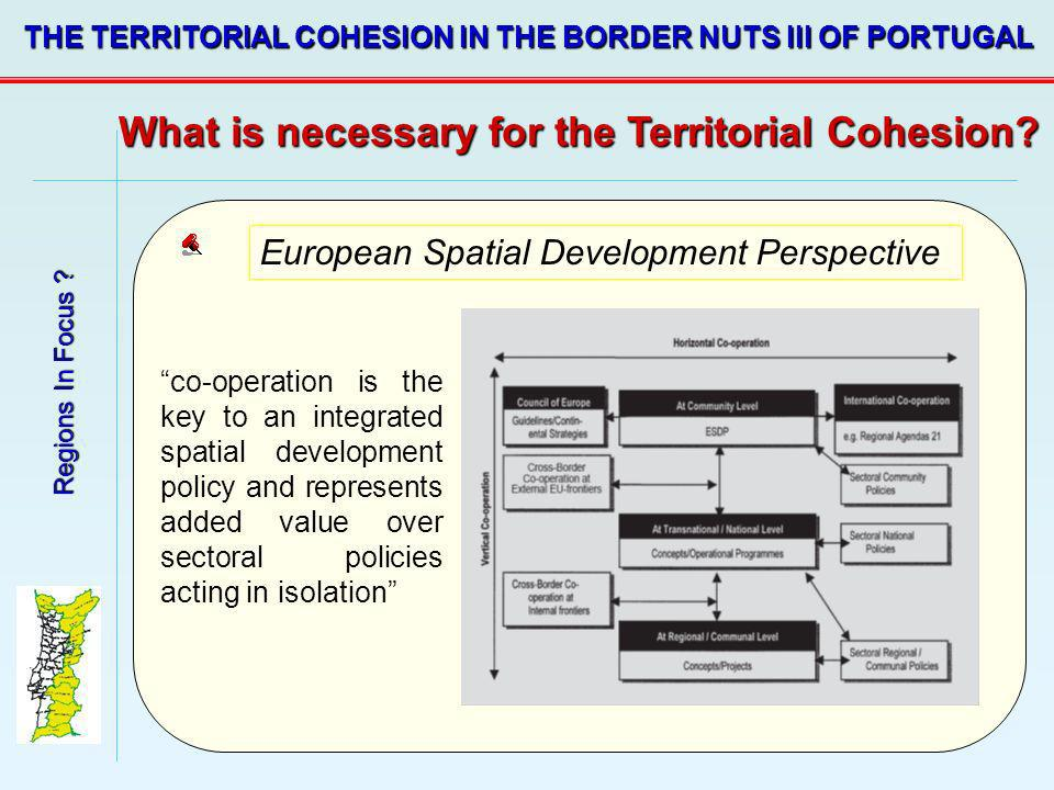 What is necessary for the Territorial Cohesion