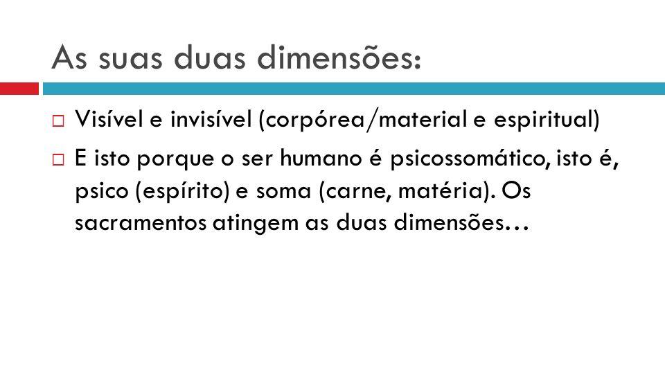As suas duas dimensões: