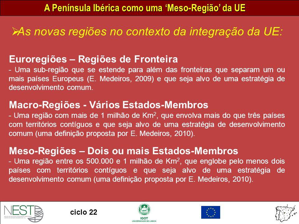 As novas regiões no contexto da integração da UE: