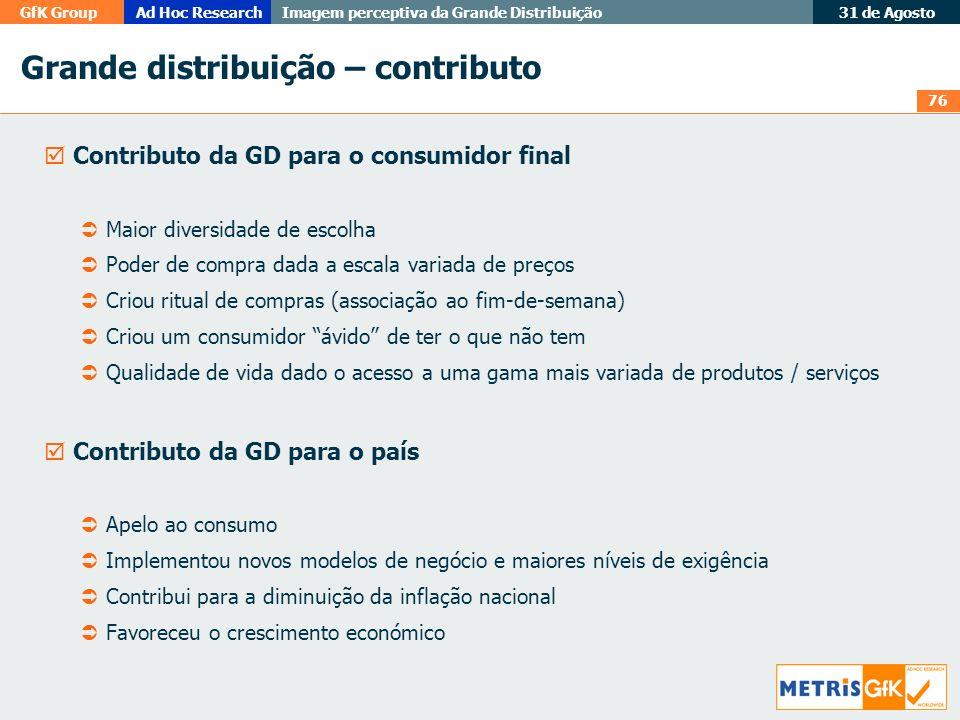 Grande distribuição – contributo