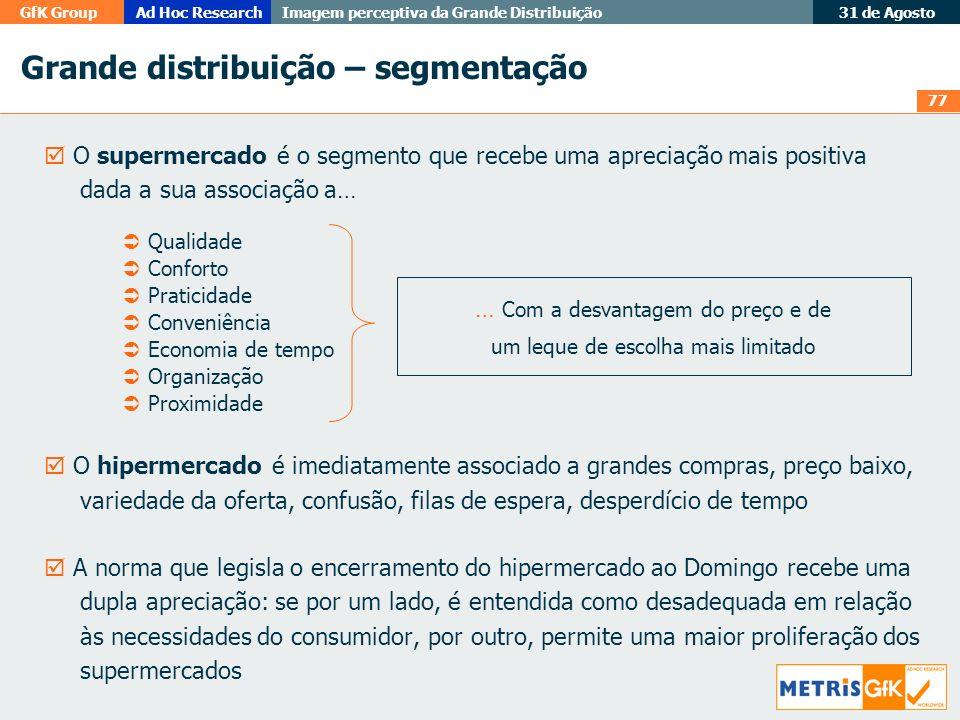 Grande distribuição – segmentação