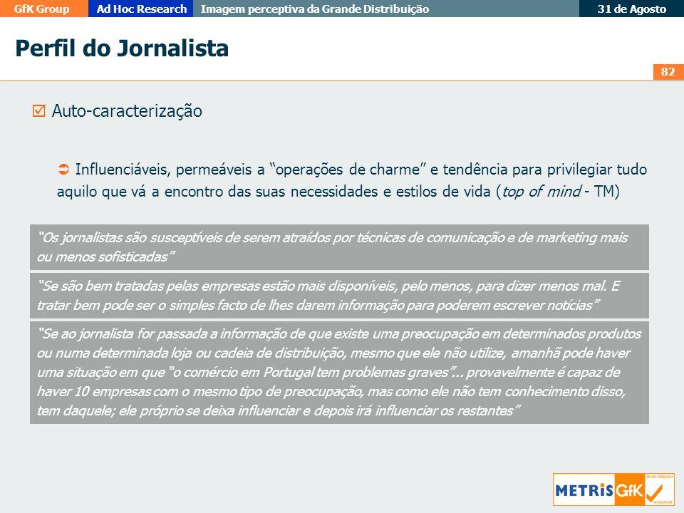 Perfil do Jornalista  Auto-caracterização