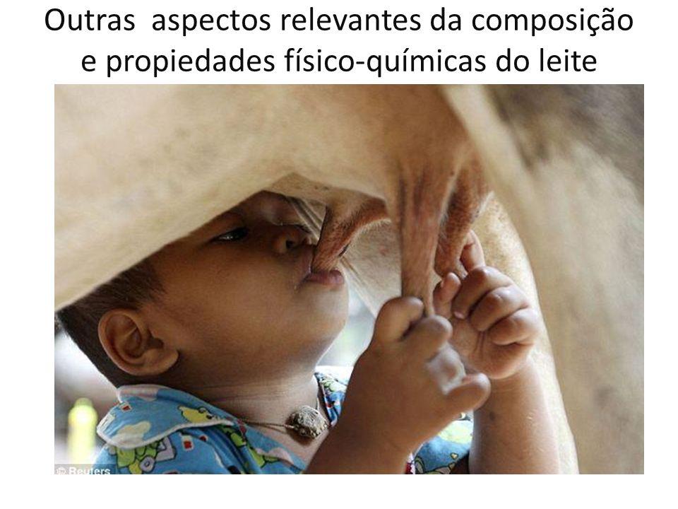Outras aspectos relevantes da composição e propiedades físico-químicas do leite