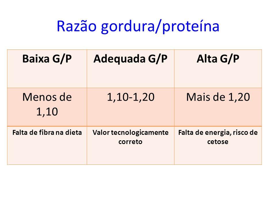 Razão gordura/proteína