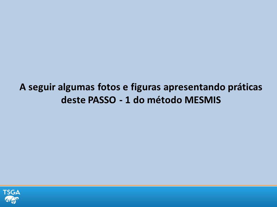 A seguir algumas fotos e figuras apresentando práticas deste PASSO - 1 do método MESMIS