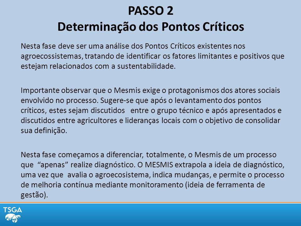 PASSO 2 Determinação dos Pontos Críticos