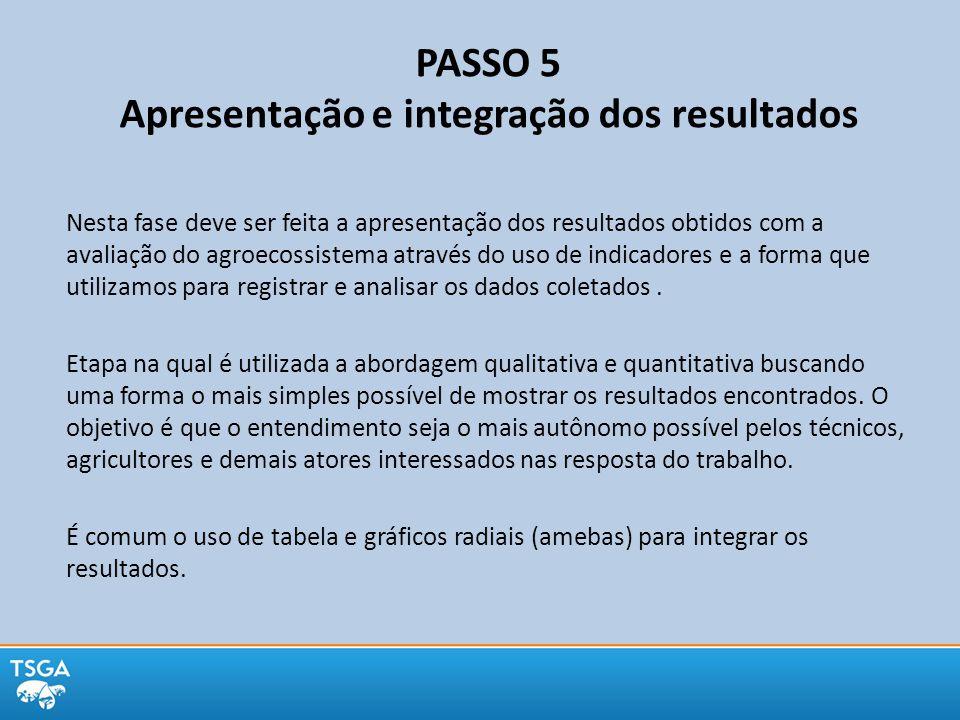 PASSO 5 Apresentação e integração dos resultados