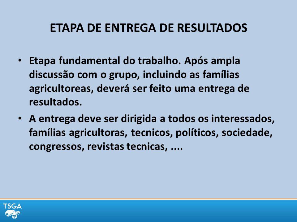 ETAPA DE ENTREGA DE RESULTADOS