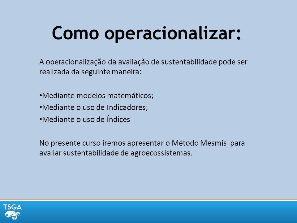 Como operacionalizar: