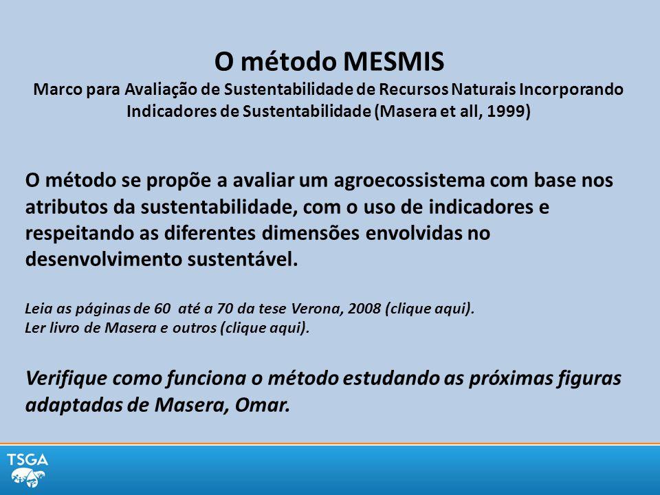 O método MESMIS Marco para Avaliação de Sustentabilidade de Recursos Naturais Incorporando Indicadores de Sustentabilidade (Masera et all, 1999)