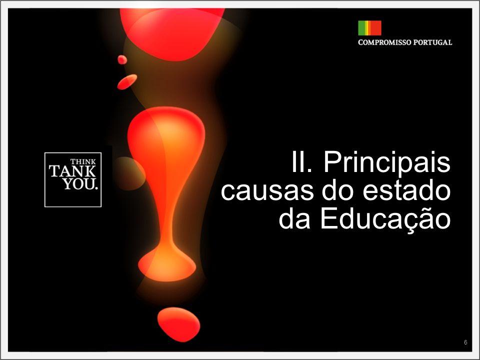 II. Principais causas do estado da Educação