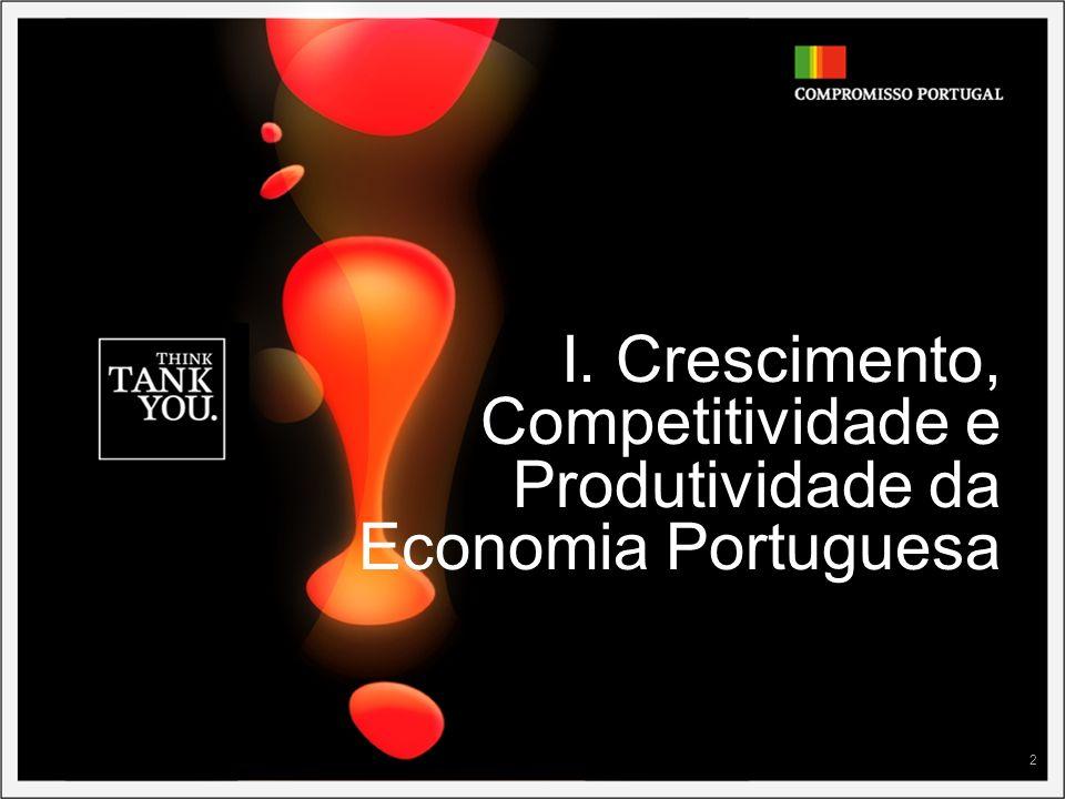 I. Crescimento, Competitividade e Produtividade da Economia Portuguesa