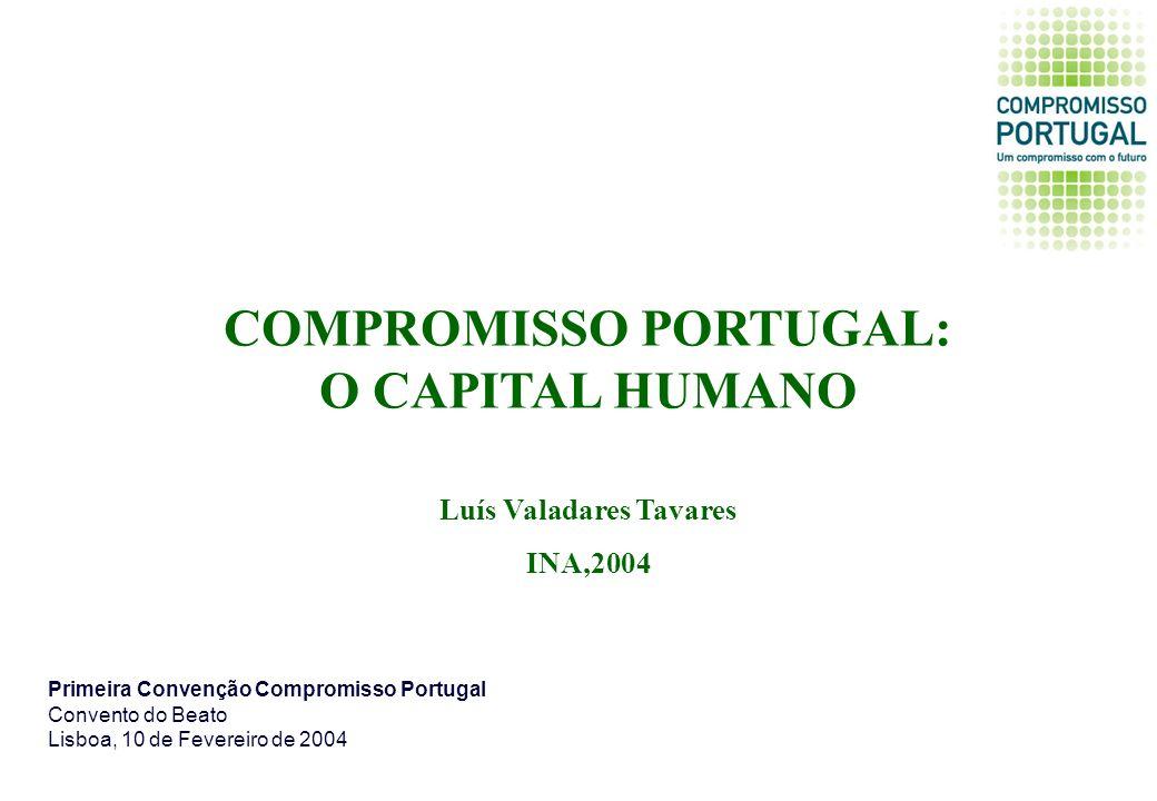 COMPROMISSO PORTUGAL: O CAPITAL HUMANO Luís Valadares Tavares