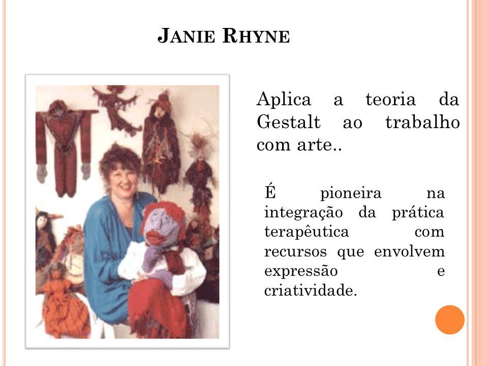 Janie Rhyne Aplica a teoria da Gestalt ao trabalho com arte..