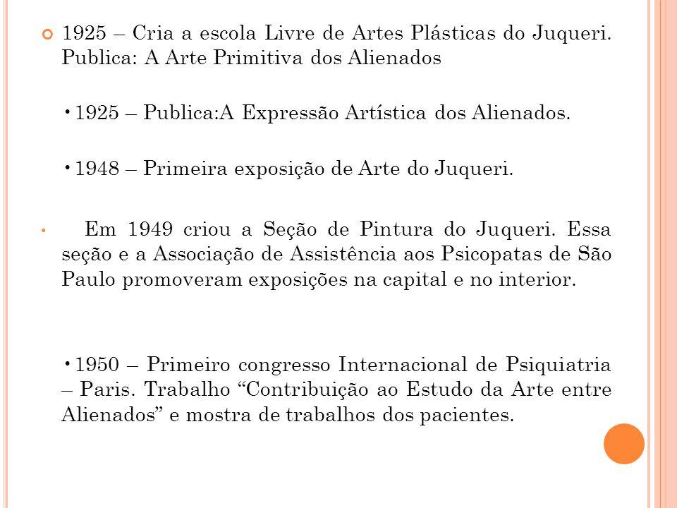 1925 – Cria a escola Livre de Artes Plásticas do Juqueri