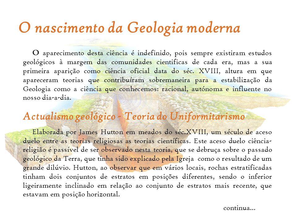 O nascimento da Geologia moderna