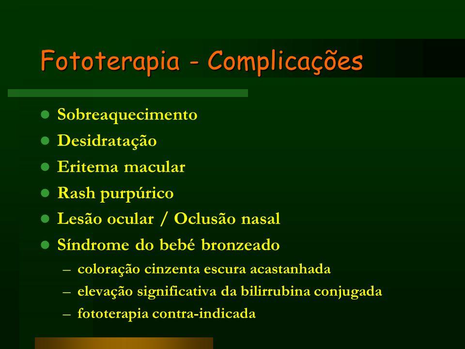 Fototerapia - Complicações