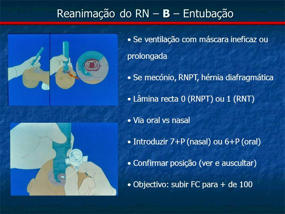 Reanimação do RN – B – Entubação