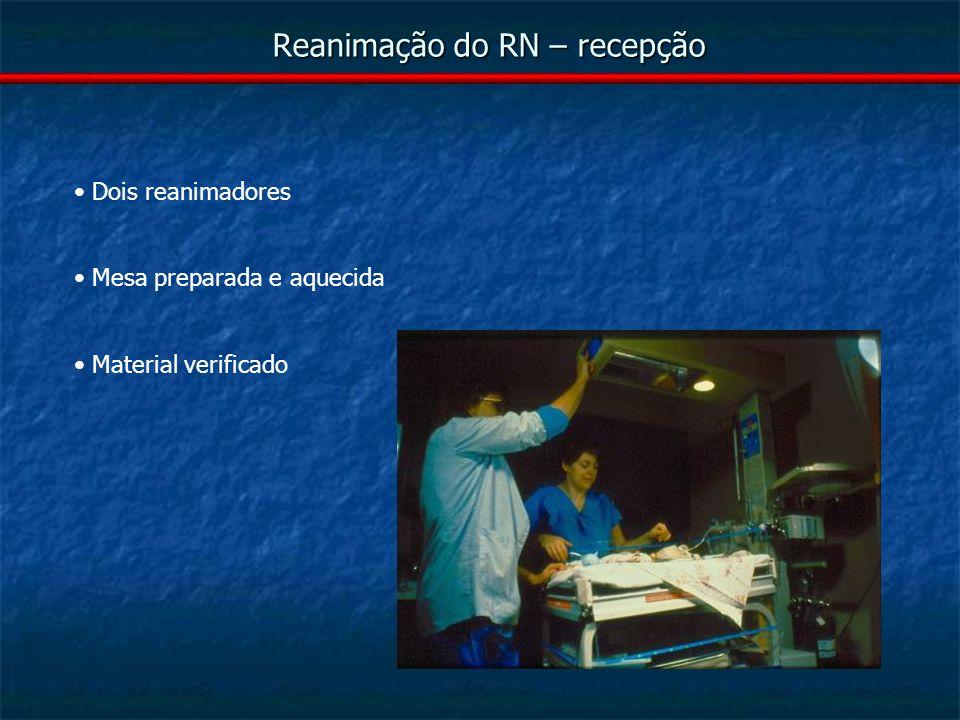 Reanimação do RN – recepção
