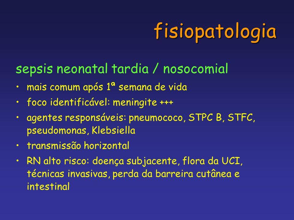 fisiopatologia sepsis neonatal tardia / nosocomial