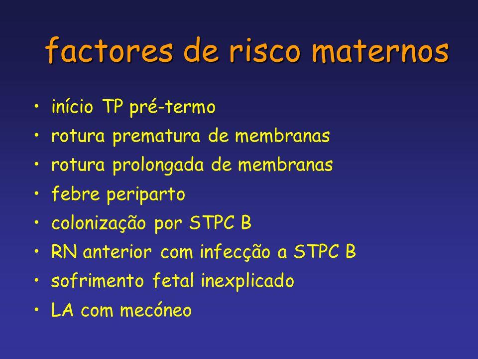 factores de risco maternos