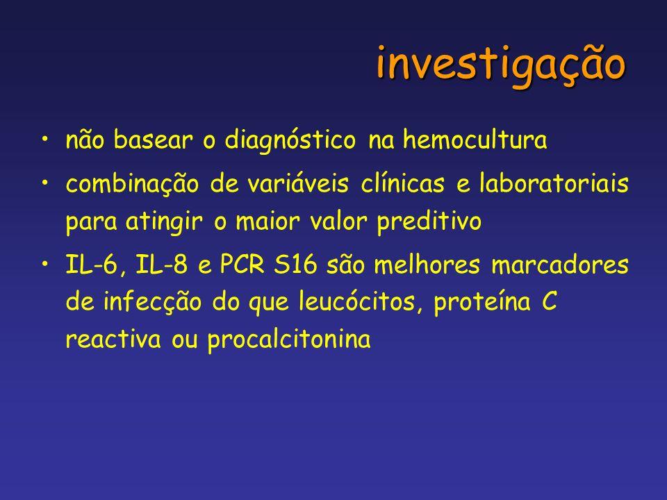 investigação não basear o diagnóstico na hemocultura