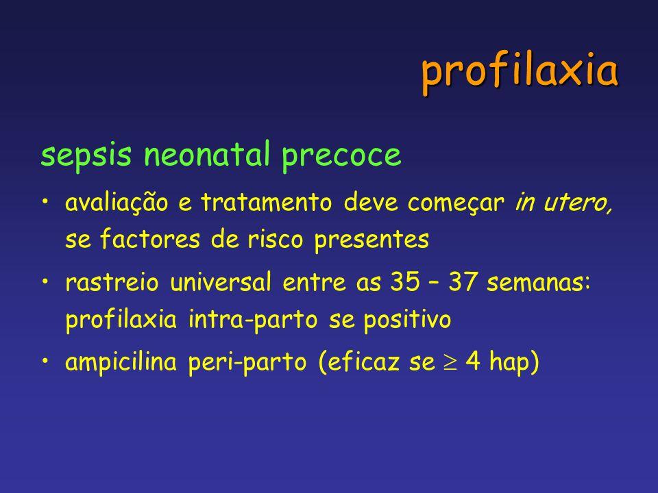 profilaxia sepsis neonatal precoce