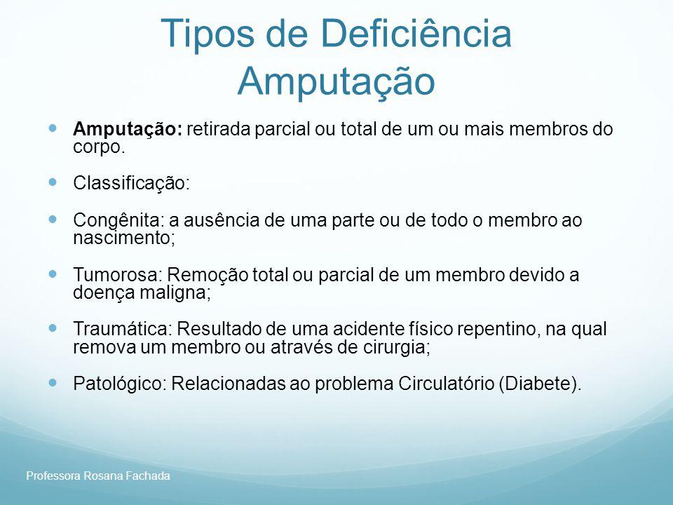 Tipos de Deficiência Amputação