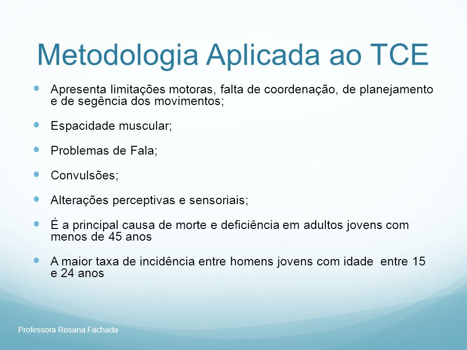 Metodologia Aplicada ao TCE