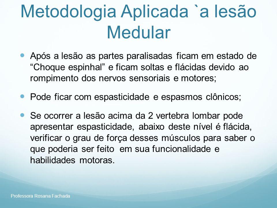 Metodologia Aplicada `a lesão Medular