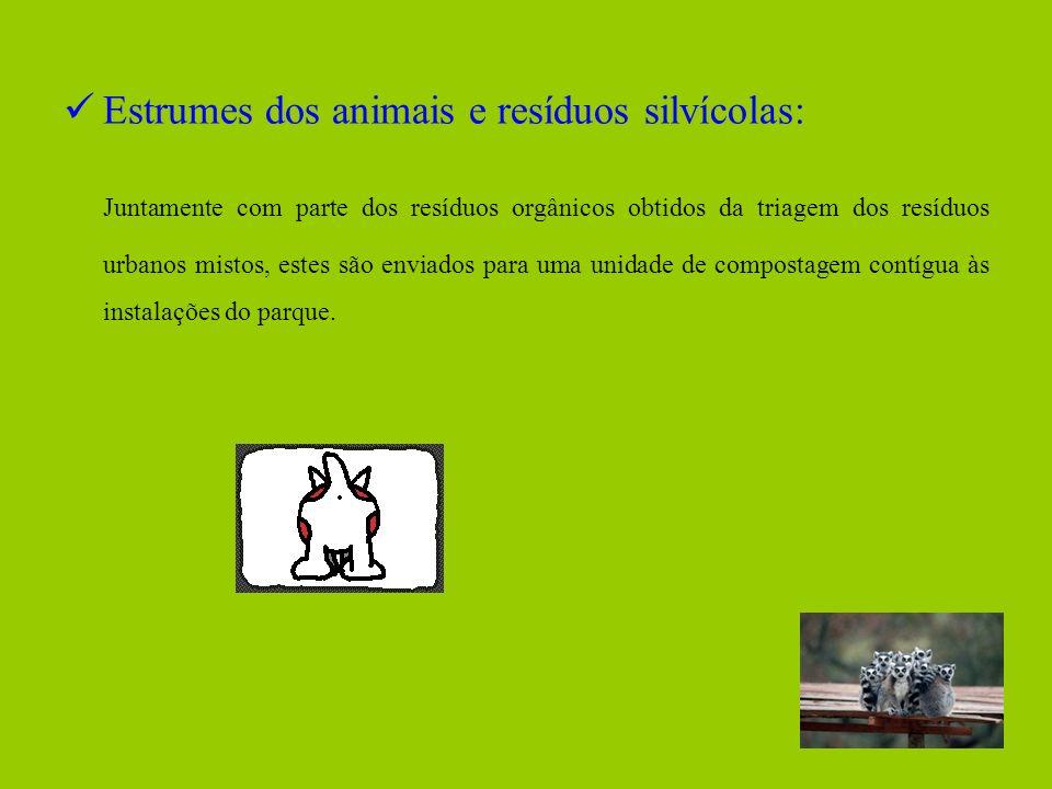 Estrumes dos animais e resíduos silvícolas: