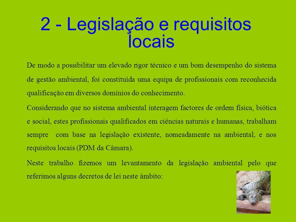 2 - Legislação e requisitos locais