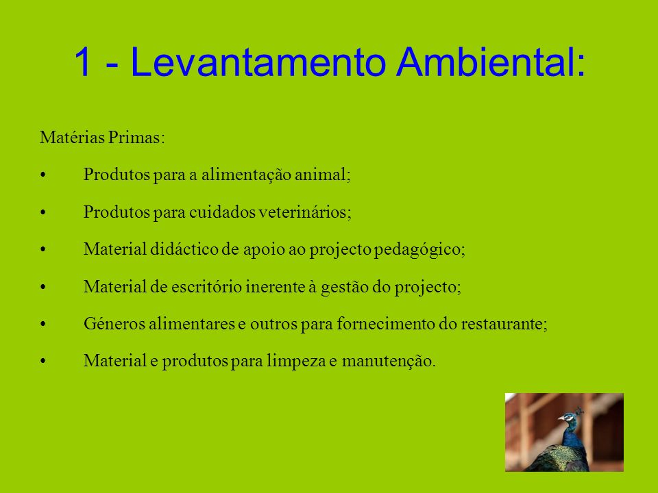 1 - Levantamento Ambiental: