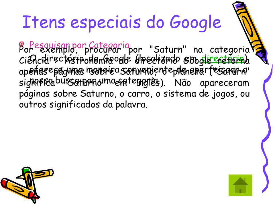 Itens especiais do Google