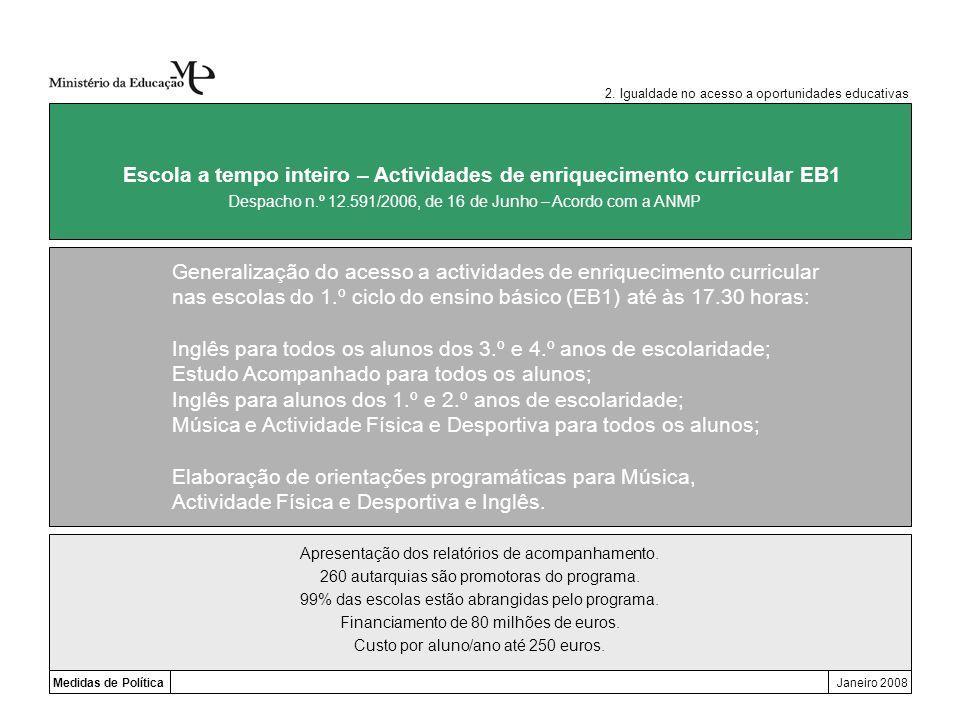 Escola a tempo inteiro – Actividades de enriquecimento curricular EB1