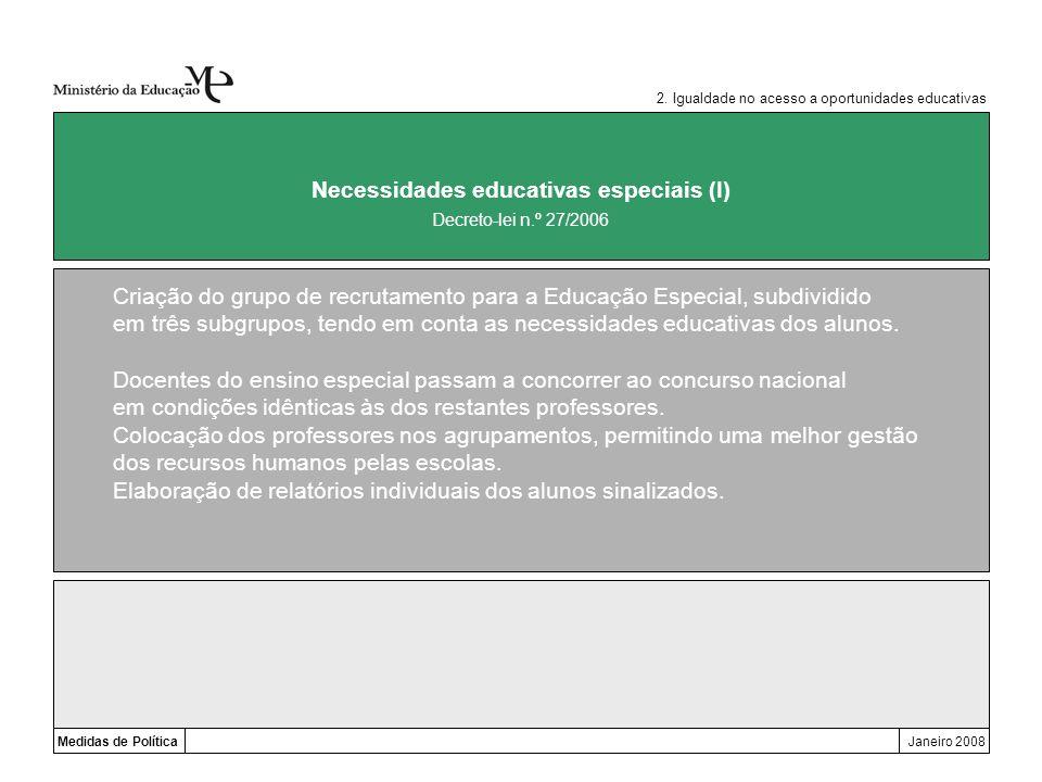 Necessidades educativas especiais (I)