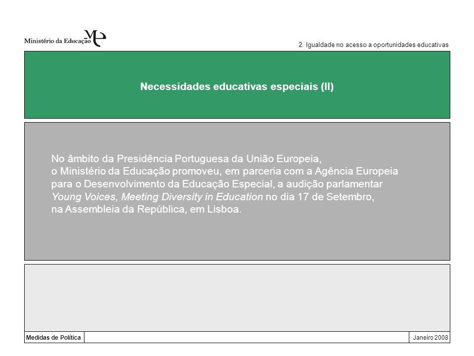 Necessidades educativas especiais (II)